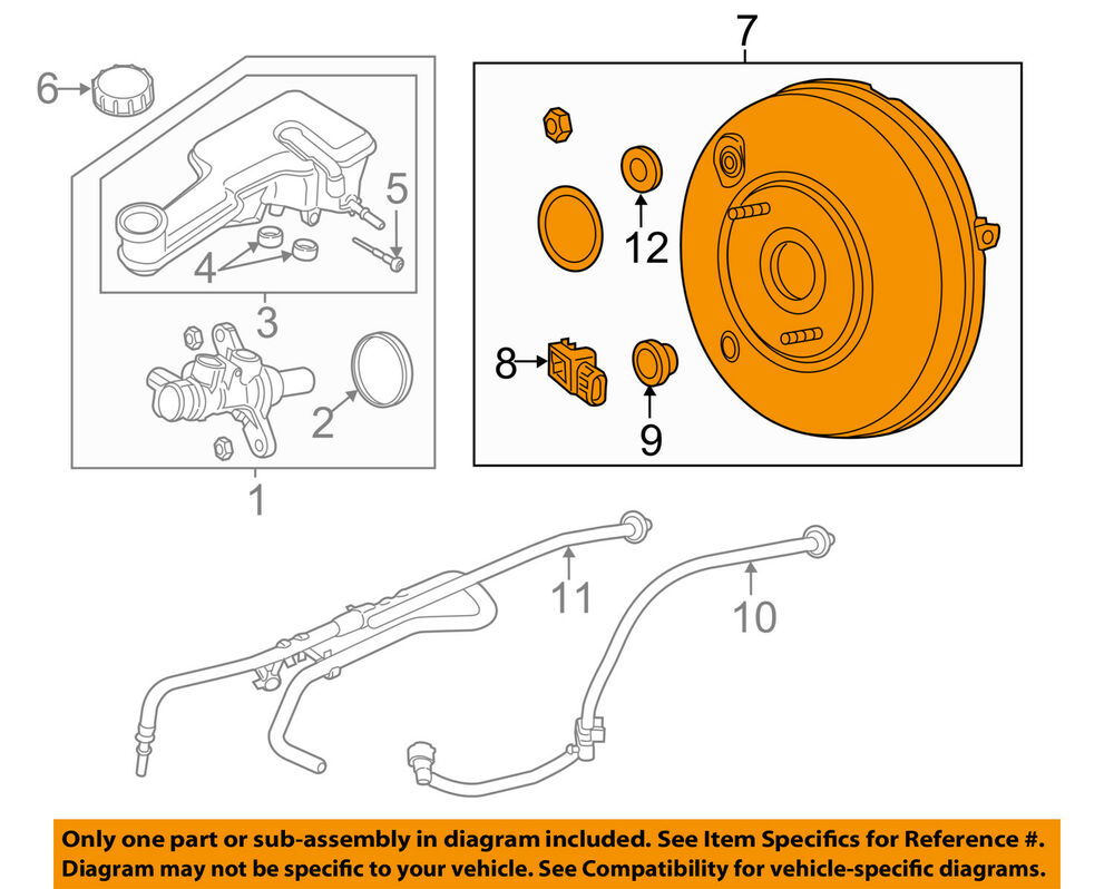 medium resolution of details about ford oem 13 14 fusion power brake vacuum booster dg9z2005e