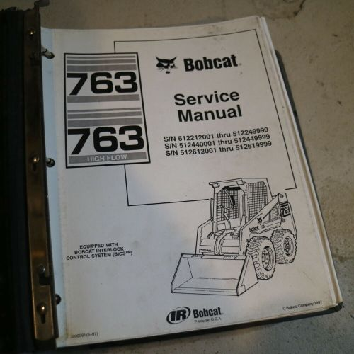small resolution of details about bobcat 763 skid steer loader service manual repair shop book turbo front end oem