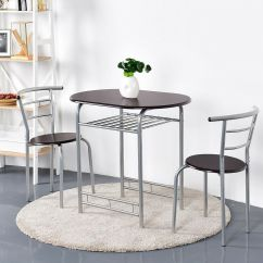 2 Chair Dining Set Gym Exercises For Seniors 3pcs Home Bistro Table And Chairs Dinner Desk Seats Details About Furniture