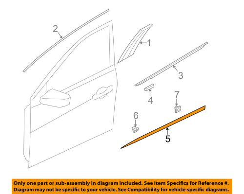 small resolution of details about hyundai oem 12 14 azera front door lower molding trim left 877113v000
