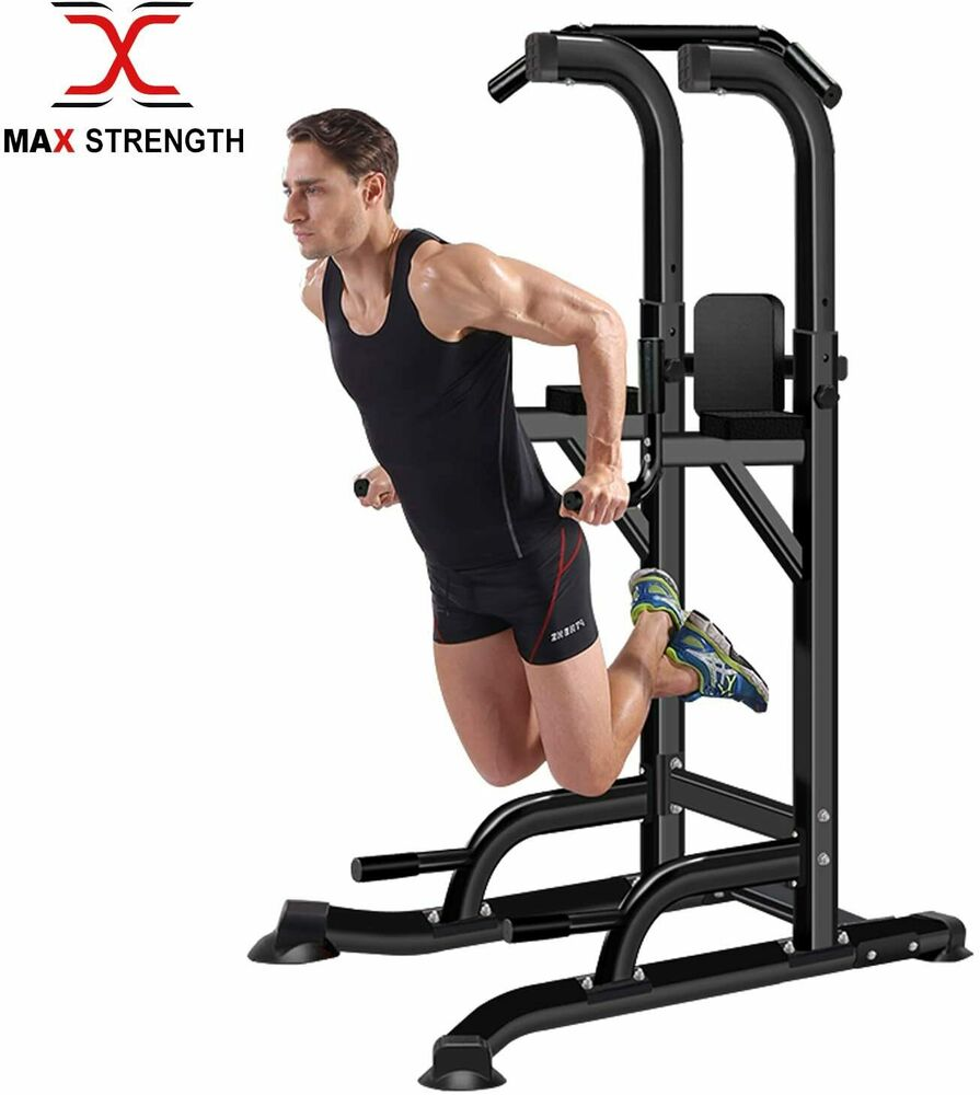 Home Gym Power Tower Dip AB Pull/Chin Up Bar KNEE/LEG