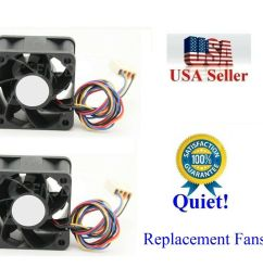 pack of 2x new quiet replacement fans for qnap qsw 1208 8c 12 port 10gbe switch ebay [ 1000 x 922 Pixel ]