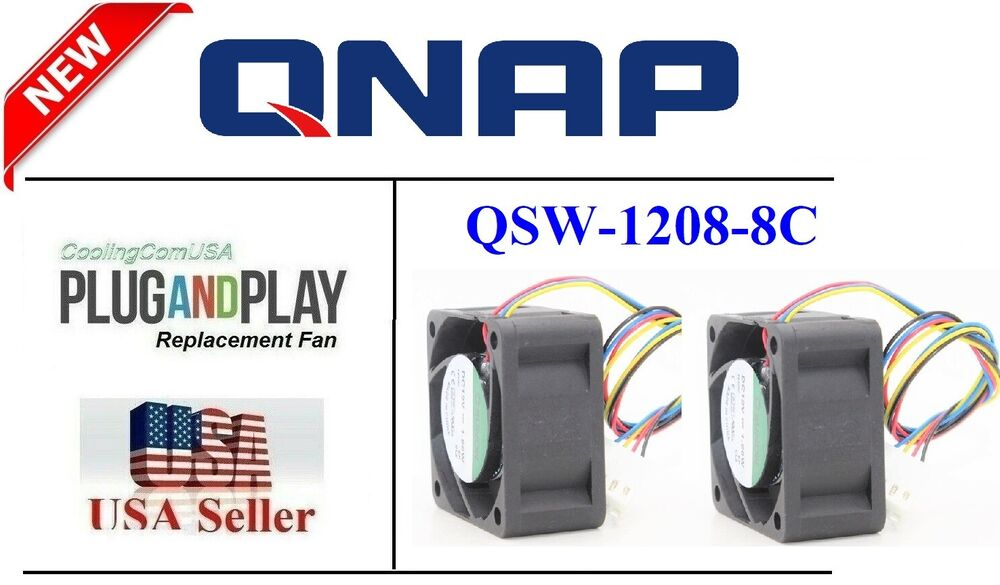 hight resolution of pack of 2x new quiet replacement fans for qnap qsw 1208 8c 12 port 10gbe switch ebay
