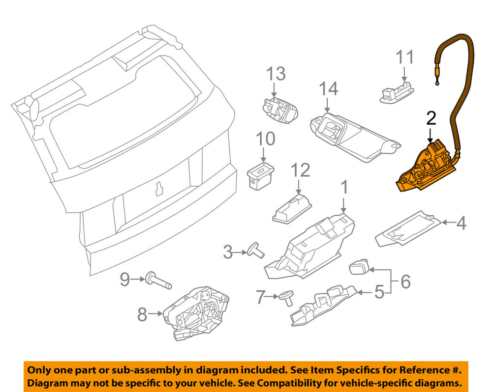 hight resolution of details about land rover oem 14 16 range rover evoque liftgate lock actuator motor lr071193