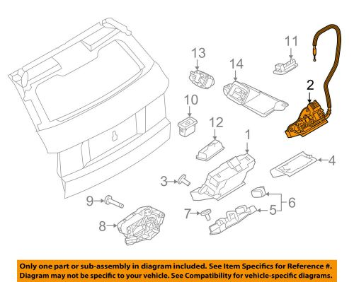small resolution of details about land rover oem 14 16 range rover evoque liftgate lock actuator motor lr071193