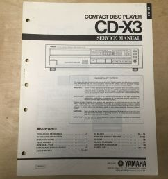 details about original yamaha service manual for the cd x3 cd compact disc player repair [ 1000 x 1000 Pixel ]