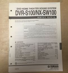 details about original yamaha service manual for dvr s100 nx sw100 dvd theater sound system [ 1000 x 1000 Pixel ]