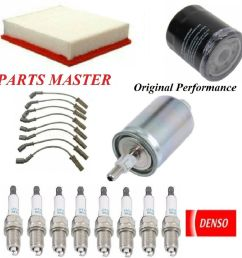 details about tune up kit air oil fuel filters spark plugs for gmc yukon xl 1500 v8 5 3l 2006 [ 991 x 1000 Pixel ]