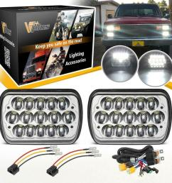 details about led headlight wire for toyota 95 97 tacoma 88 95 pickup chevy express van nissan [ 1000 x 1000 Pixel ]