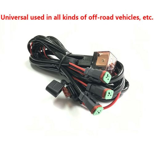 small resolution of details about universal 12v car high beam led light bar one belt three wiring loom harness set