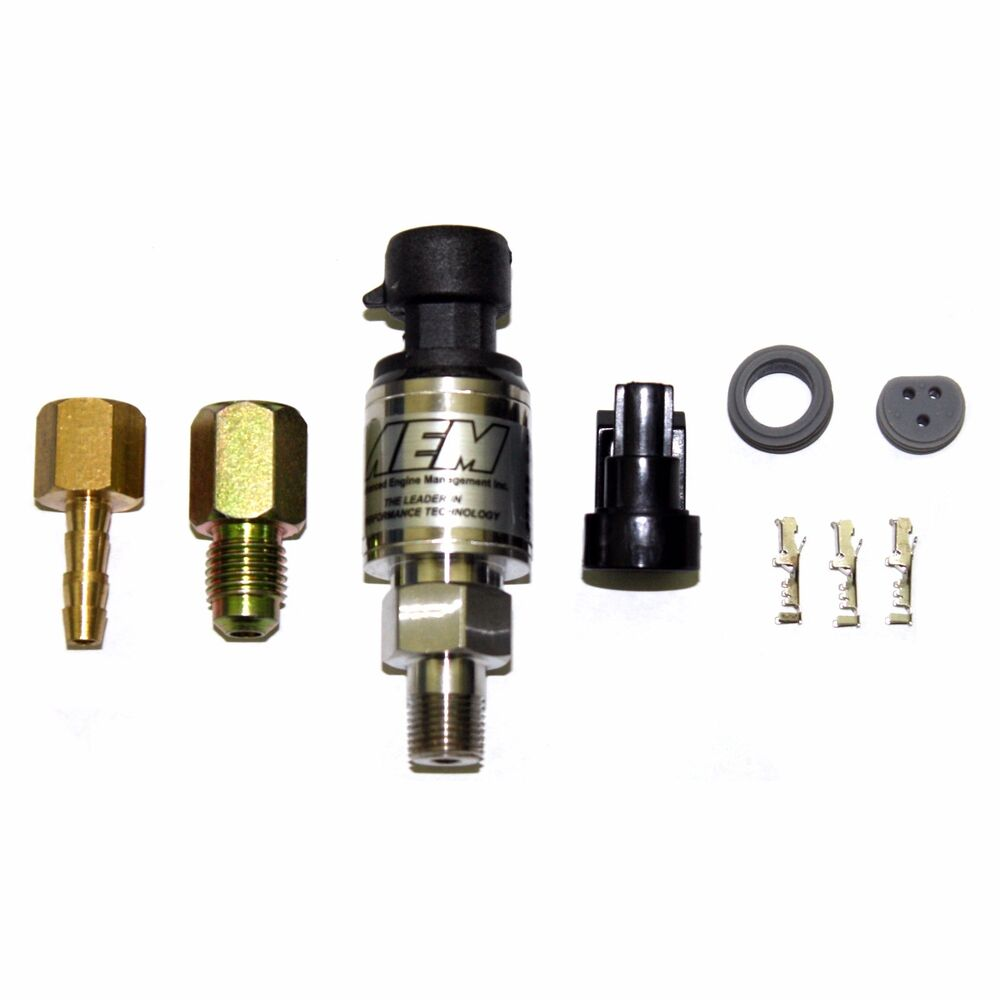 medium resolution of details about aem 3 5 bar 50 psia map manifold pressure stainless sensor kit 30 2130 50