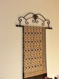 Antique FRENCH style tapestry holder frame wrought iron ...