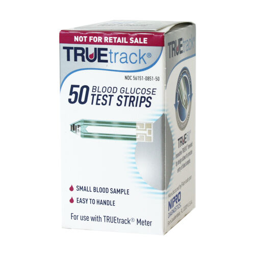 TRUETrack Blood Glucose Test Strips Box Of 50 Count Exp01