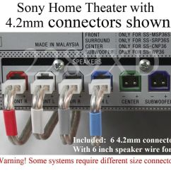 Home Theatre System Wiring Diagram Taste Bud Tongue Papillae Sony Diagrams Great Installation Of 6c 4 2mm Speaker Cable Wire Plug Connectors Made For Amplifier Ultralink