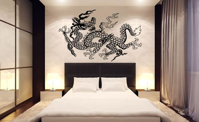Japanese Dragon Wall Decor Vinyl Decal Sticker D 39 Ebay