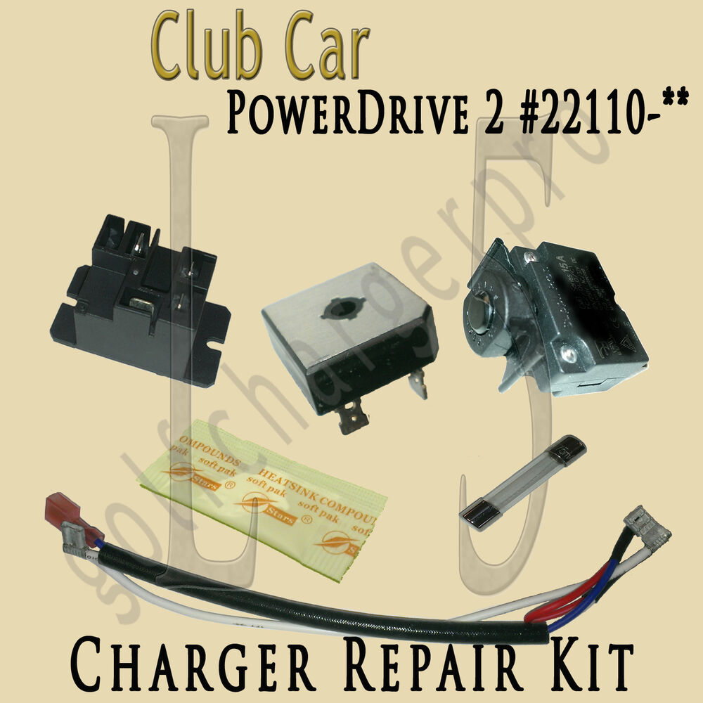 hight resolution of club car golf car cart powerdrive 2 charger repair kit