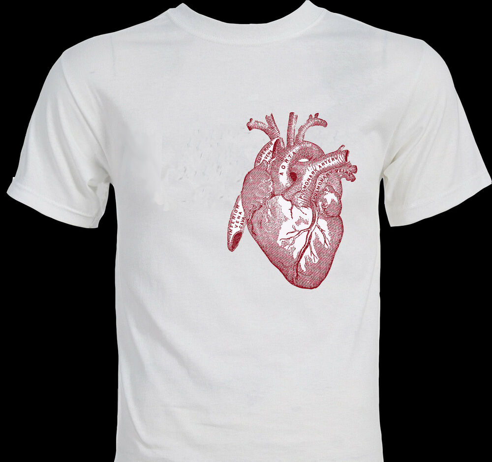 BIG HEART anatomy anatomical illustration drawing art unique Tshirt  eBay