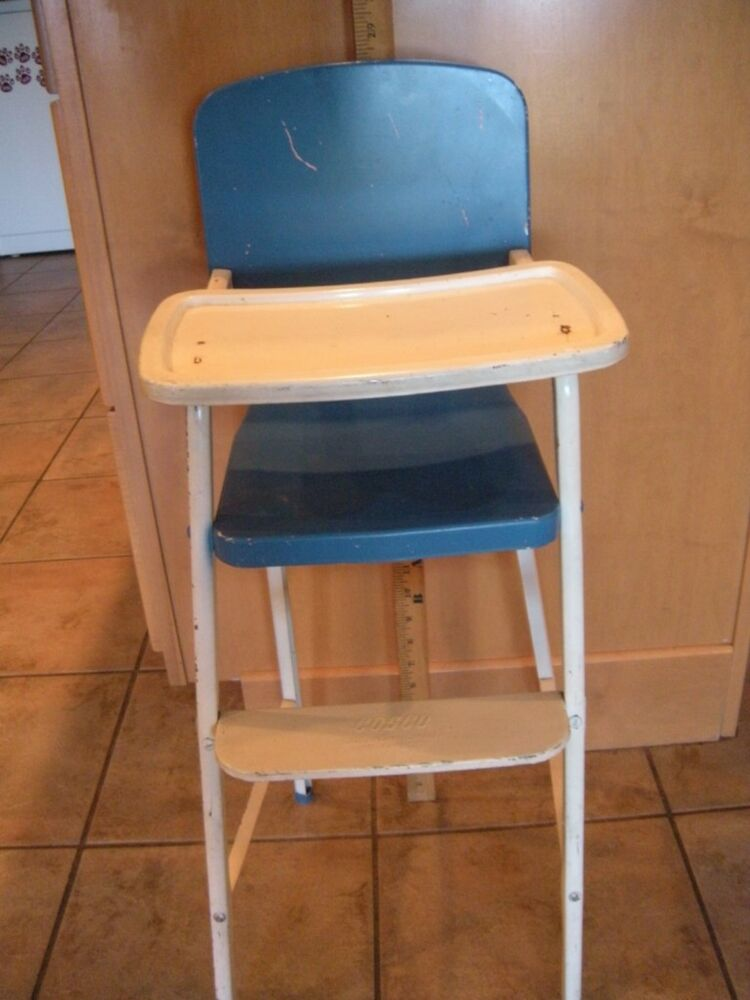 rocking chair and cradle in one kidkraft doll high crib vintage blue/white cosco doll-e-hichair by amsco baby tin metal   ebay
