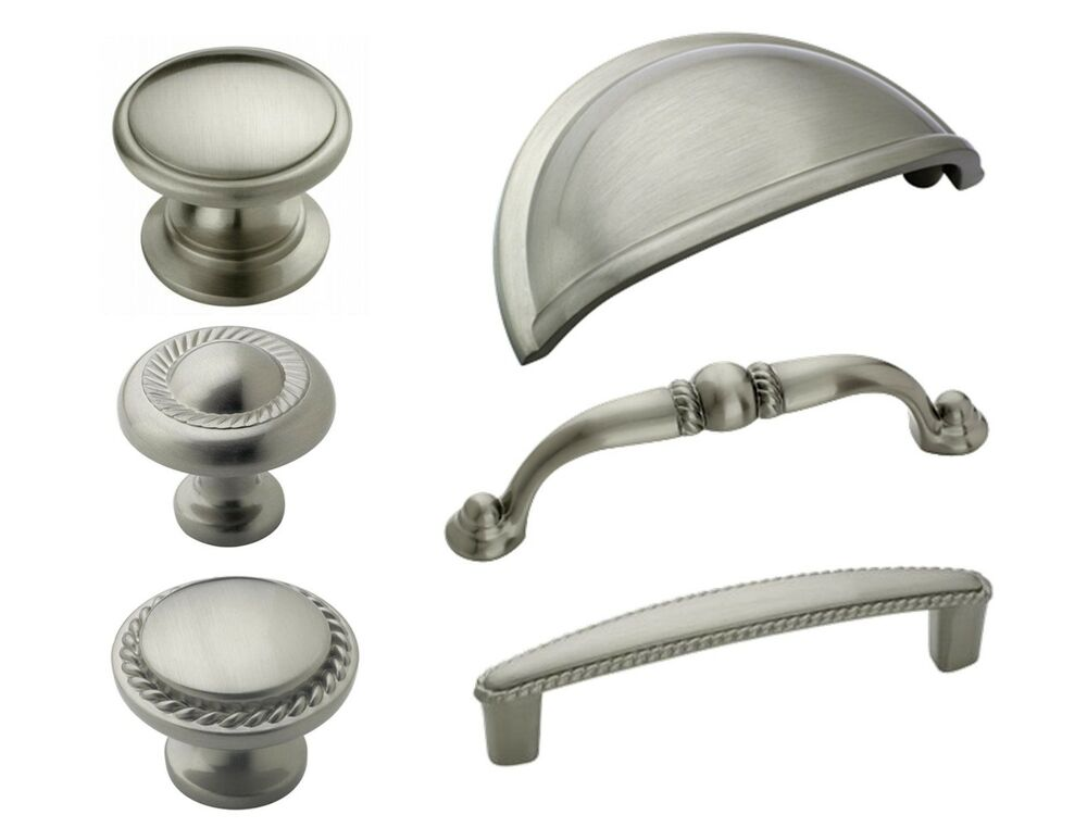 brushed nickel cabinet pulls  Home Decor