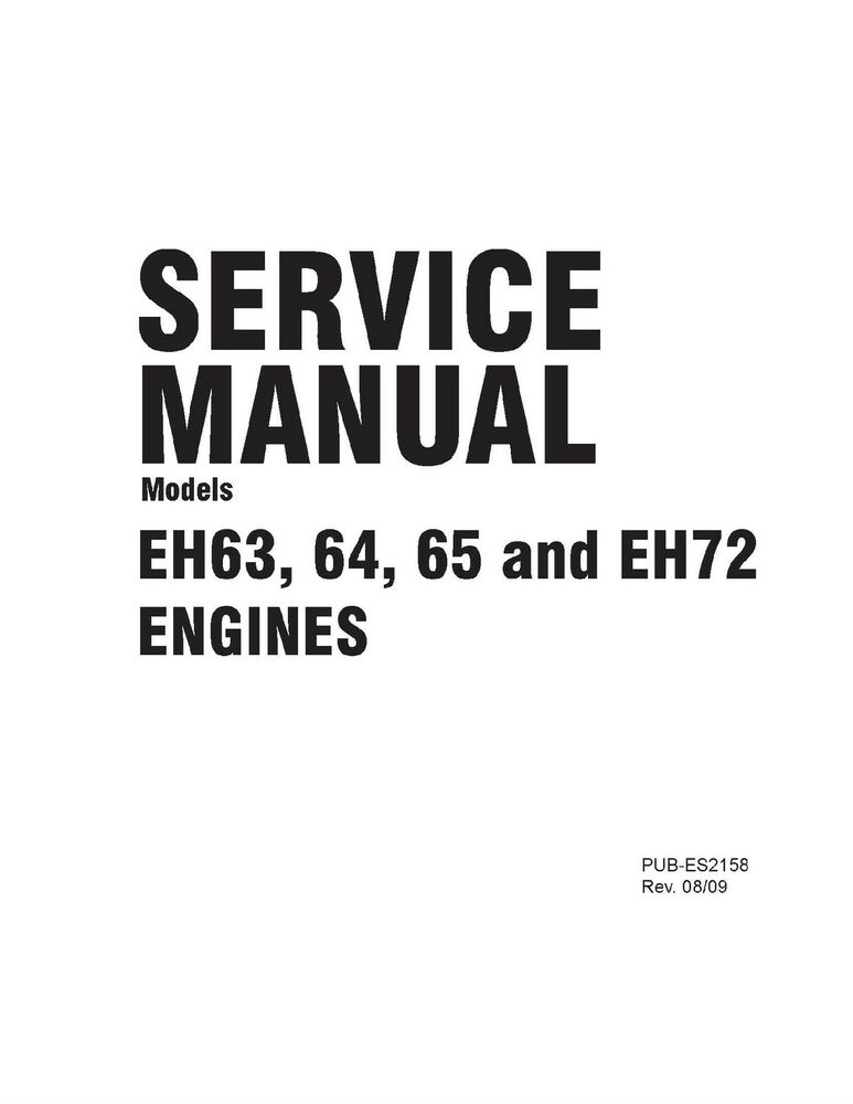 Subaru Robin Engine Service & Repair Shop Manual EH63 EH64