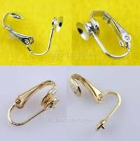 4 Pairs 'U' Clip On Earring Findings For Pearl Stud ...