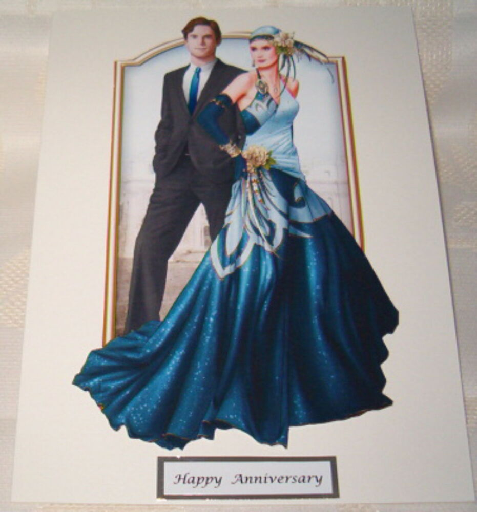 Art Deco Wedding Anniversary Card EBay