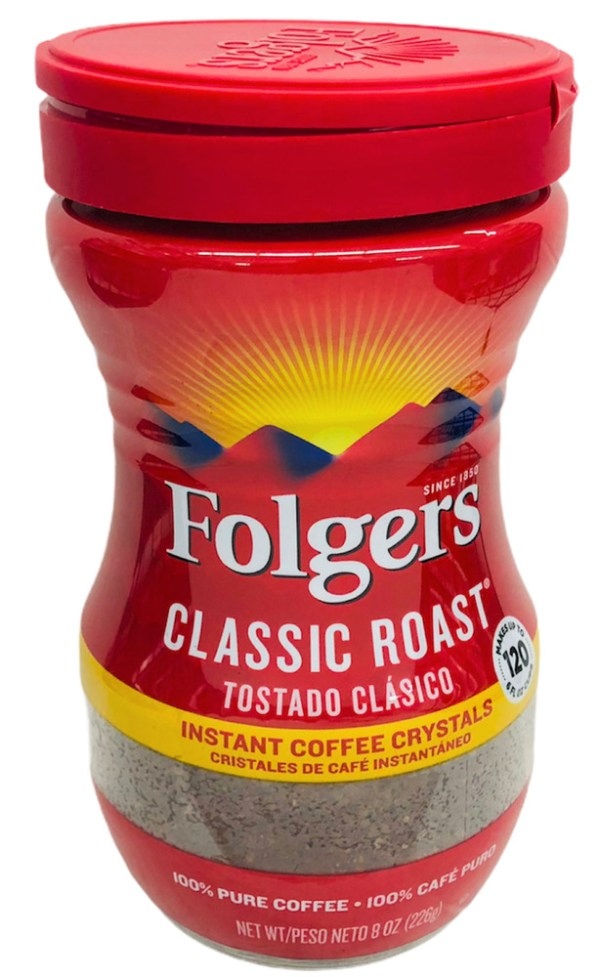 Folgers Classic Roast Instant Coffee Crystals 8 oz eBay