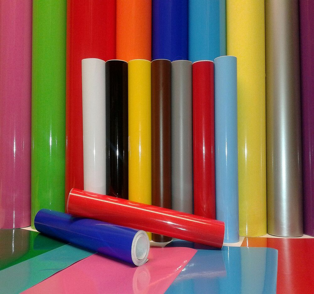 2M LONG ROLL OF 610 WIDE SELF ADHESIVE VINYL STICKY BACK