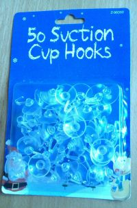 50 suction cups with plastic hooks for windows decorations ...
