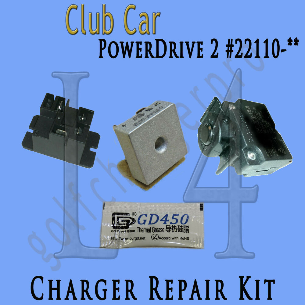 hight resolution of club car powerdrive 2 22110 48 volt golf cart battery charger repair kit ebay