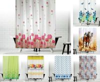 New Designer Fabric Shower Curtains Extra Long 180 x 200 ...
