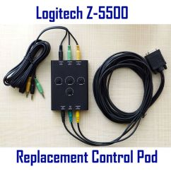 Home Cable Tv Wiring Diagram Bmw Mini Stereo Logitech Z-5500 Speakers Replacement Control Pod Pre636 Subwoofer Wired Remote   Ebay