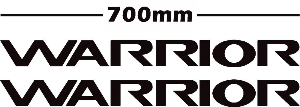 mitsubishi L200 pair of warrior door stickers/decals in