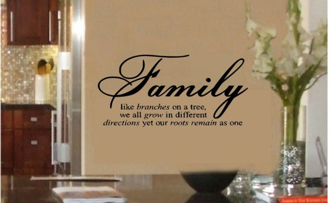 Family Like Branches On A Tree Vinyl Lettering Wall Quotes