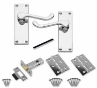 Chrome Internal Door Handle Sets 11 Pairs (9 Latch, 2 ...