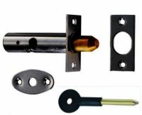 Black Security Rack Bolt / Star Door Lock 60mm Long Bolts