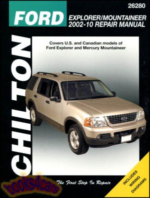 FORD EXPLORER MERCURY MOUNTAINEER SHOP MANUAL CHILTON