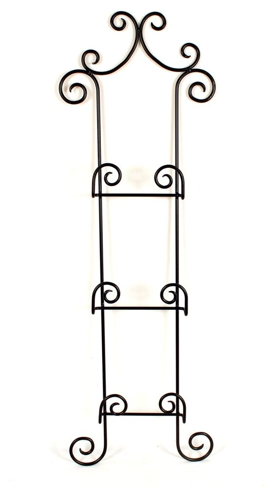 Wrought Iron 3 Plates Holder Wall Racks