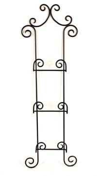 Wrought Iron 3 Plates Holder Wall Racks | eBay