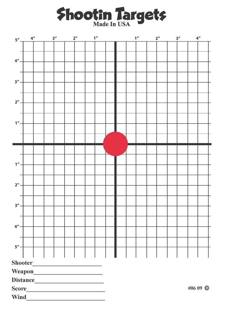 75 Red Dot Scope Sight In paper shooting targets (11X15