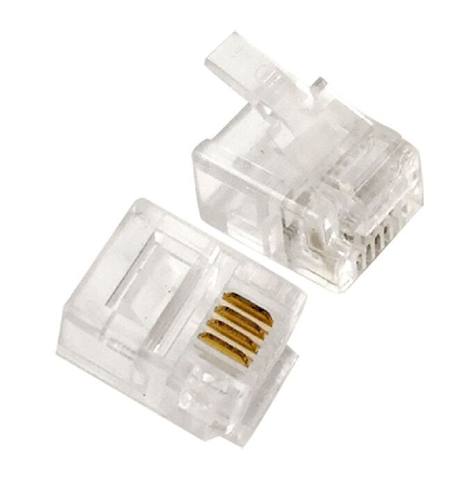 rj11 wall jack wiring diagram yokoyama control transformer 100 pcs lot cat3 telephone connector end 6p4c modular plug | ebay
