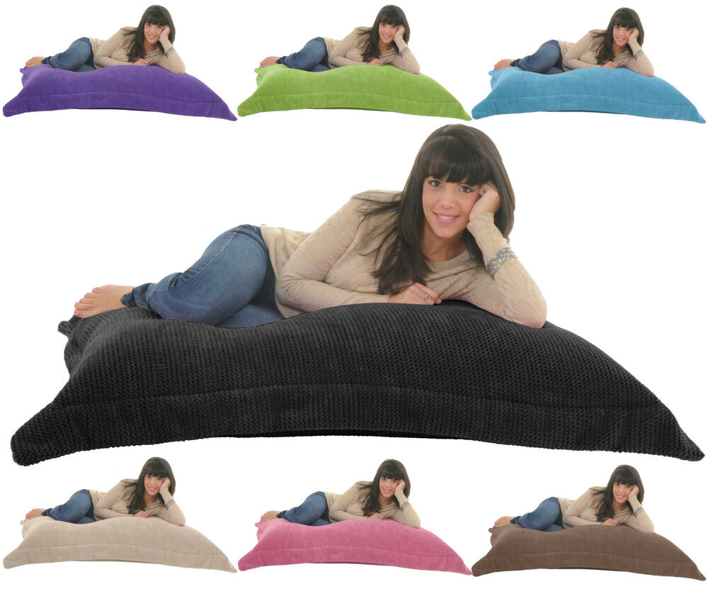bean bags chair vanity with storage soft & snugly cord giant beanbag floor cushion bed lounger bag gilda | ebay