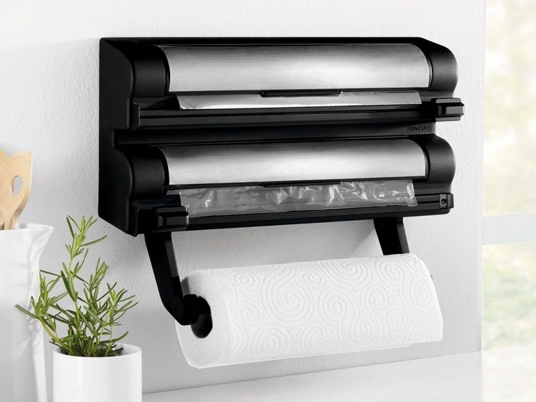 Kitchen Roll Foil  Cling Film Dispenser Wall Mounted