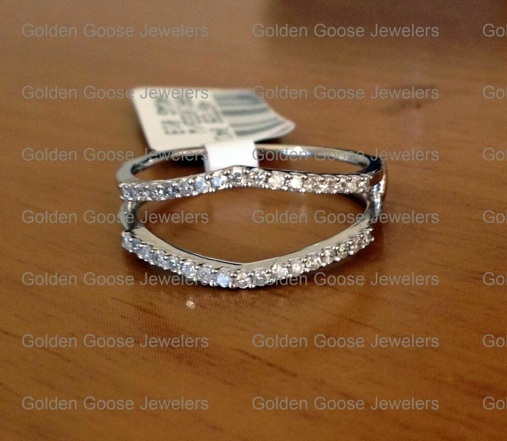 025 Ct Solitaire Enhancer Diamonds Ring Guard Wrap 14k