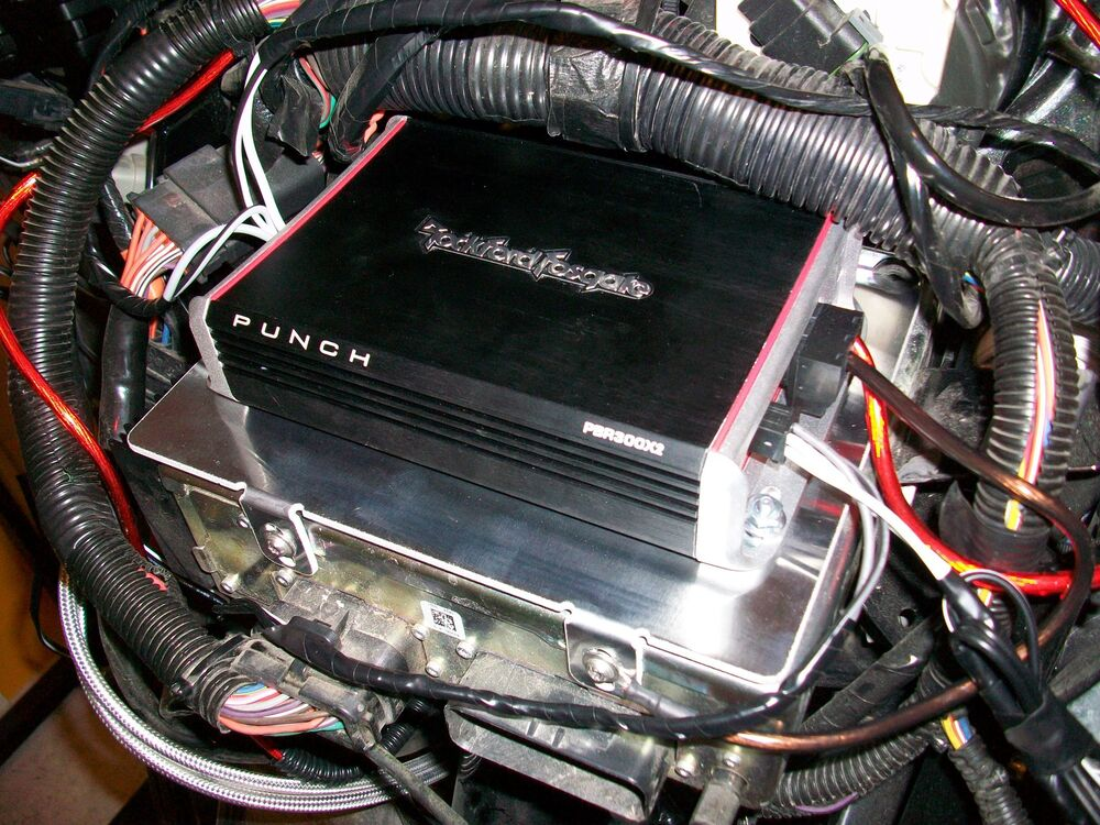 Rockford Fosgate Punch Amp Wiring Diagram Harley Batwing Amp Mount Pre Drilled For Rockford Fosgate