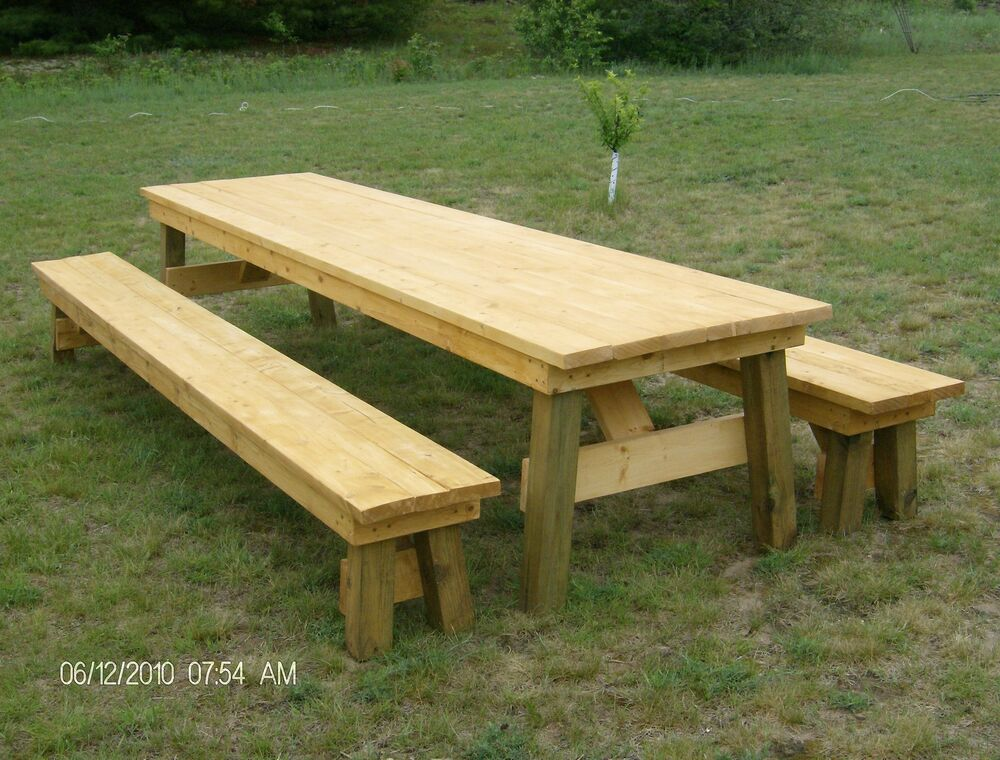 Classic Picnic Table With Separate Benches Plan-How To