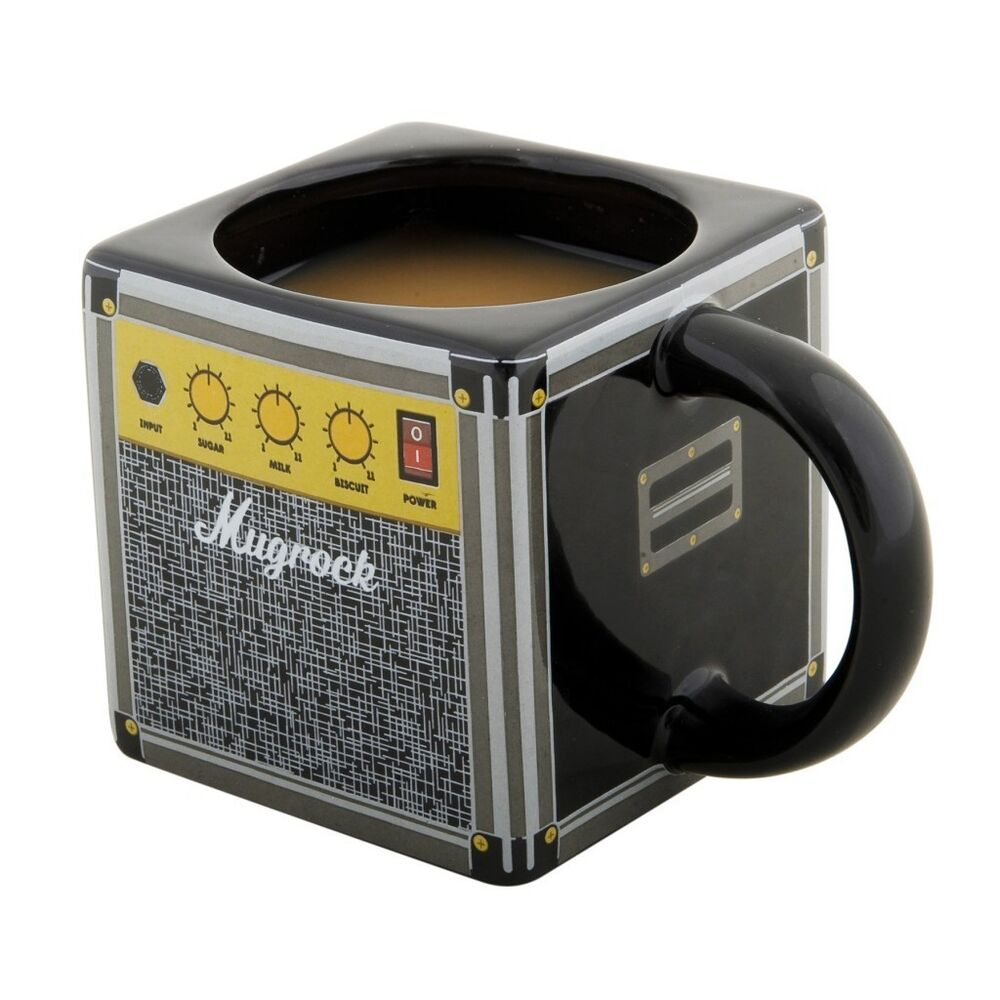 COFFEE MUG AMP SPEAKERS AMPLIFIER SPINNING HAT FUN GIFT