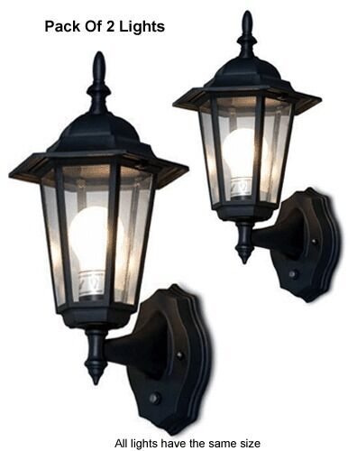 Pack Of 2 Outdoor Wall Lighting Systems For Dusk To Dawn