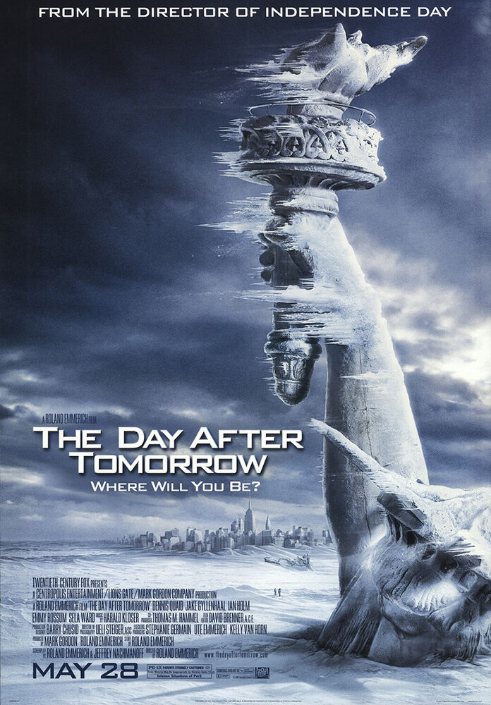 The Day After Tomorrow 2004 Original Movie Poster Action Adventure Sci-Fi   eBay