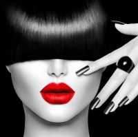 Red Lips Face Modern Canvas Home Fine Wall Art Prints ...